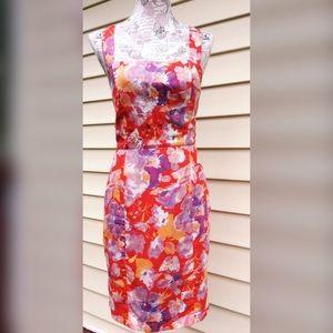 Zara Floral Silk Rayon Sleeveless Sheath Dress